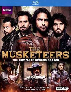 The intrepid foursome of D'Artagnan (Luke Pasqualino), Athos (Tom Burke), Aramis (Santiago Cabrera) and Porthos (Howard Charles) embark on new adventures in the second season of this swashbuckling and