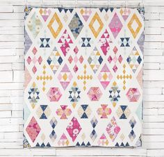 FreeSpirit Wander by Joel Dewberry Floating Diamonds Quilt Kit - None