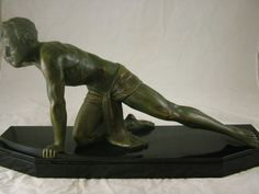 French-art-deco-Listening-Man-warrior-with-bow-by-Darcourt-Chiparus-c1930