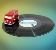 Soundwagon Portable Record Playing Hippy Van - http://www.gadgets-magazine.com/soundwagon-portable-record-playing-hippy-van/