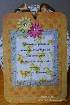 Dica: Usando tecido e papel transfer no scrap | Luciana Murta