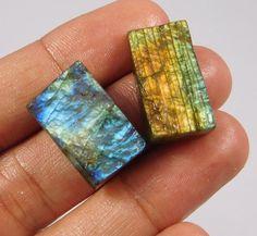 48 Cts. 100% Natural Rainbow Flashy Labradorite Druzy Lot Cab Gemstone NI153 #Handmade