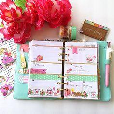 My favorite season! Spring . I love pastels! Minty #kikkik is one of my favorites! . #filofax #kikkikplanner #katespadeplanner #websterpages #plannerlove #colorcrush #planningwithbelinda #plannerdecoration #stationaryjunkie #misstrenchcoat #kikkikdashboard #plannerclips #plannerpaperclips #plannerdecorating #katespadeagenda #paperclips #stationary #stationarylover #planneraddict #plannercommunity #plannertassel #katespadewellesley #ilovepink #plannergirl