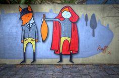 """Little Red Riding Hood"" by Kaff in Melbourne, Australia #BrothersGrimm #Rotkaeppchen #FairyTales #StreetArt flic.kr/p/aftHug"