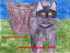 Making A Cat Christmas Card
