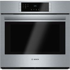 Bosch 800 Series Self-Cleaning Convection Single Electric Wall Oven (Steel-Stainless) (Common: 30-in; Actual 29.75-in)