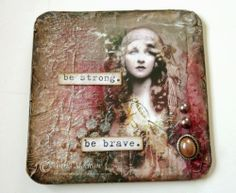 Altered beer mat for a swap