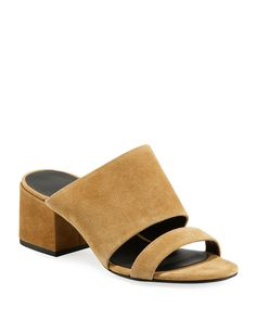 Shop designer shoes on sale at Bergdorf Goodman. Don't miss out on these luxury sandals, sneakers, and more on sale. Double Strap Sandals, Ankle Wrap Sandals, Mule Sandals, Brown Sandals, Strappy Sandals, Ankle Strap, Flat Booties, Leather Booties, Designer Shoes On Sale