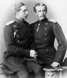 Crown Prince Wilhelm of Prussia and Crown Prince Rudolf of Austria