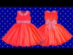 Cómo hacer un vestido de niña forrado (patrones) | How to make a girl dress - YouTube