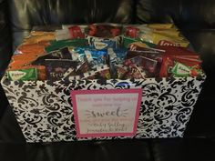 Thank you gifts for OB Nurses. Snack basket. #thankyou #laboranddelivery #obnurse #snackbasket #pregnancy. #nursethankyou