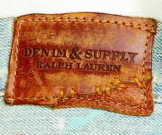 etiqueta de cintura grabada denim & supply Ralph Lauren.