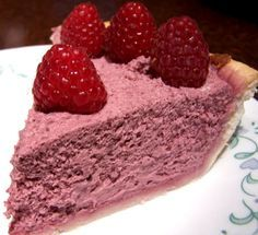 Raspberry Cream Cheese Chiffon Pie