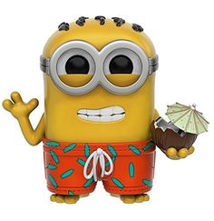 Funko 9223 Pop Games Minion Paradise Phil Action Figure. From Minions Paradise, Dave, as a stylized POP vinyl from Funko!. Stylized collectable stands 3 3/4 inches tall, perfect for any Minions Paradise fan!. Collect and display all Minions Paradise POP! Vinyl!.