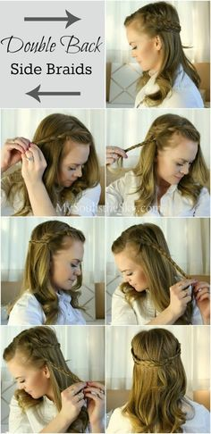2 Easy Hairstyles for Fall: Double Back Side Braids | Missy Sue