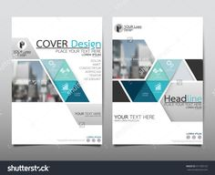 Blue Triangle Triangle Annual Report Brochure Flyer Design Template Vector, Leaflet Cover Presentation Abstract Flat Background, Layout In A4 Size - 411305125 : Shutterstock