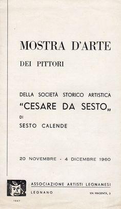 1960 Mostra D'arte  dei pittori della Cesare da Sesto, Legnano
