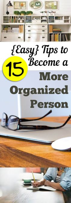 15 {Easy} Tips to Become a More Organized Person. Oh organization. It can be easy and so hard. Learn how to become more organized. Organisation Hacks, Office Organization, Organize Your Life, Organizing Your Home, Organizing Tips, Cleaning Hacks, Organising, D House, Staying Organized