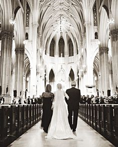 traditional catholic church wedding..st. patricks cathedral