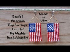 Beaded American Flag Earrings Tutorial - YouTube