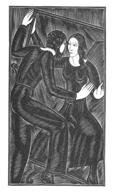 Artist and the Mirror by Eric Gill