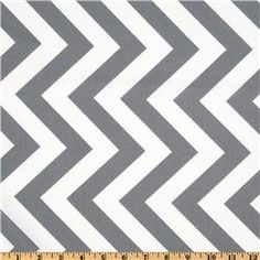 Curtains? - Moda Half Moon Modern Zig Zag Stripe Grey/White