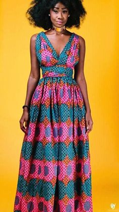 African print dresses can be styled in a plethora of ways. Ankara, Kente, & Dashiki are well known prints. See over 50 of the best African print dresses. African Inspired Fashion, African Dresses For Women, African Print Dresses, African Print Fashion, Africa Fashion, African Attire, African Wear, African Women, African Prints