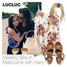 """Meeting fans in Melbourne with Harry"" by style-with-one-direction ❤ liked on Polyvore featuring Payne, Ray-Ban, Mulberry, OneDirection, harrystyles and 1d"