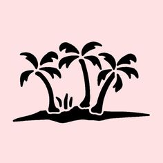 "PALM TREES STENCIL PALMS OCEAN PLANT TREE STENCILS CRAFT TEMPLATE NEW 7"" x 5"""