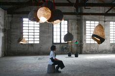 Pulp Lamp - lampe en papier maché recyclé