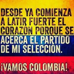 cunado colombia juega, al corazon me llega... no importa si perdemos o ganamos, hasta el ultimo minuto es mi pasion... World Cup 2014, Thats Not My, Nostalgia, Words, Quotes, Bb, Wedding, Happy, Barranquilla