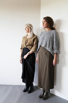 Hackwith Design House Fall 2015 - Margot Wrap Skirt and Zosia Top