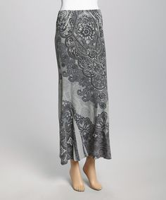 Another great find on #zulily! Casalee Gray Paisley Maxi Skirt by Casalee #zulilyfinds