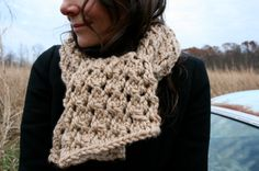 Chunky lace barley wheat long hand knit boho by baldyhillhomemade, $35.00