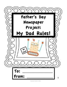 Father's Day Newspaper Project: My Dad Rules!