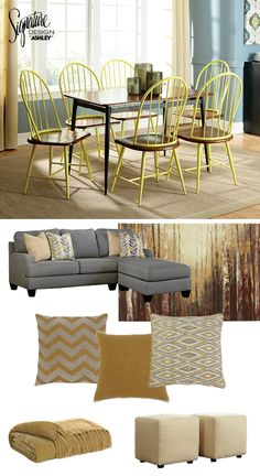 Yay for yellow! Yellow furniture and accessories - Ashley Furniture
