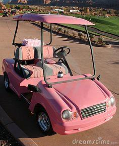 Pink Ladies Golf Cart