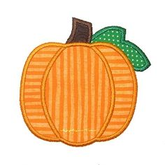 Short Pumpkin with Leaf Applique - 3 Sizes! | Fall | Machine Embroidery Designs | SWAKembroidery.com Applique Time