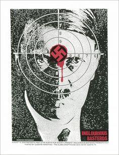 Hitler Target (INGLOURIOUS BASTERDS) by Print Mafia