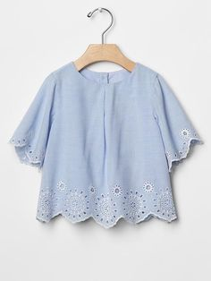 Scallop eyelet top Product Image