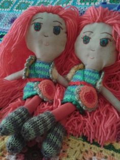 #Art doll#handmade#knitting#colour#