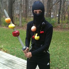 Timbers Sunday-There's an App for That! Ninja Halloween Costume, Family Halloween Costumes, Holidays Halloween, Halloween Party, Halloween Ideas, Fruit Costumes, Cool Costumes, Costume Ideas, Ninja Party