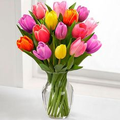 21. Kytica z tulipánov Farebný mix