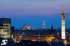 https://flic.kr/p/rBRDb4 | Paris from Bastille | Opéra Bastille, Génie de la…