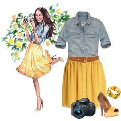 """Fashion Sketch"" by ciribiricoccola on Polyvore - I love this!!!"