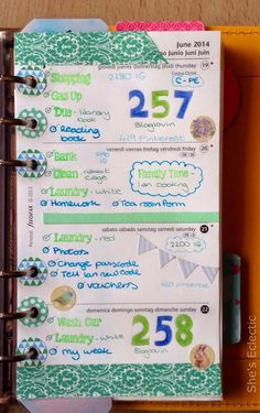 She's Eclectic: My week in my Filofax #25 - close up