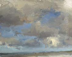 """New Blog Post: http://rosepleinair.com/painting-clouds-seascape-sky-and-clouds/ Painting Clouds: The Moment A sky goes from white to grey, from filled with clouds to 'empty blue'. Here I witnessed a moment when I was thinking """"My these clouds are brown' so I started this painting with that idea. After a while colors changed. Then you can 'let... View More at: http://rosepleinair.com #Clouds, #HowToClouds, #Mirror, #Painting, #PleinairPainting, #R"""