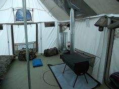 Inside the Cabels's Outfitters Series ISQ Alaknak Tent