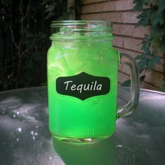 Green Apple Kool Aid Cocktail with Tequila