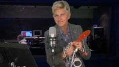Fifty Shades of Grey!  Ellen does the audio book